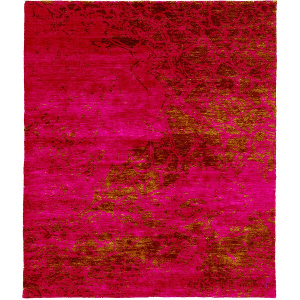 One-of-a-Kind Mitchum Hand-Knotted Traditional Style Red 12' x 15' Area Rug