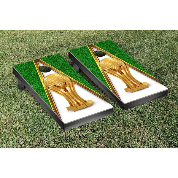 Golf Trophy Cornhole Bag Toss Game Set by Victory Tailgate