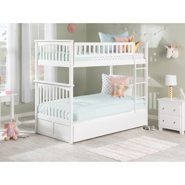 Abel Twin Over Twin Bunk Bed with Trundle by Harriet Bee