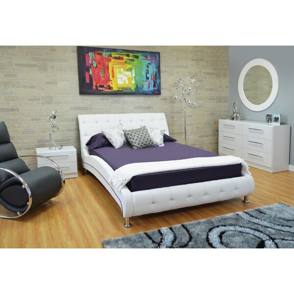 Haskett Button Tufted Upholstered Platform Configurable Bedroom Set by Brayden Studio