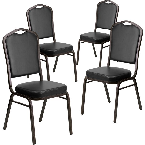 Laduke Crown Banquet Chair (Set of 4) by Symple Stuff