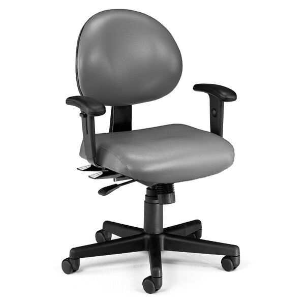 24 Hour Computer Confrence Mid-Back Desk Chair by OFM
