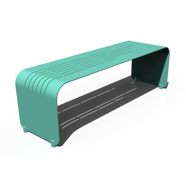 Botanist Lines Aluminum Picnic Bench by Orange22Modern