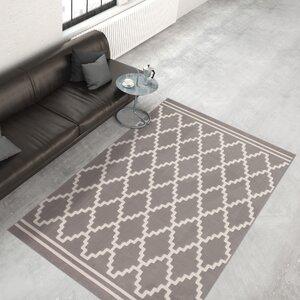 Teppich Lina 200 in Taupe/Elfenbein