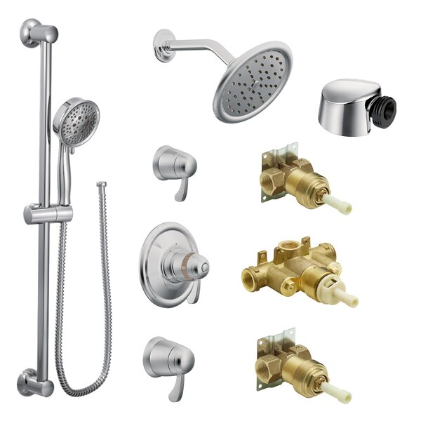 ExactTemp Thermostatic and Volume Control Complete Shower System with Rough-in Valve by Moen Moen