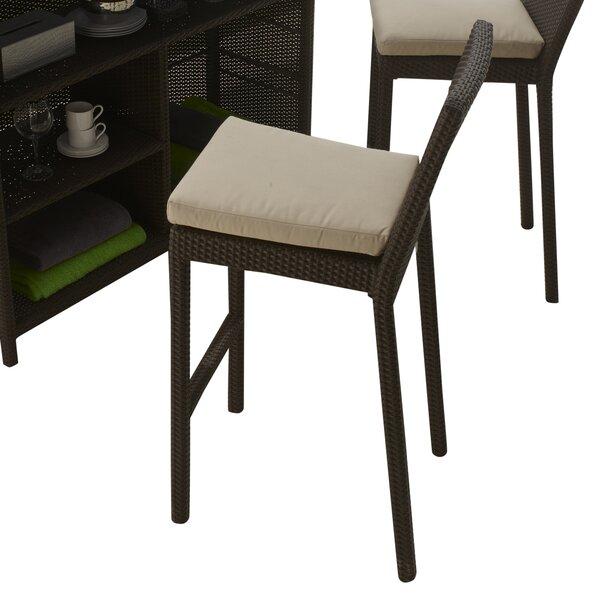 Westcott Patio Bar Stool with Cushion by Brayden Studio