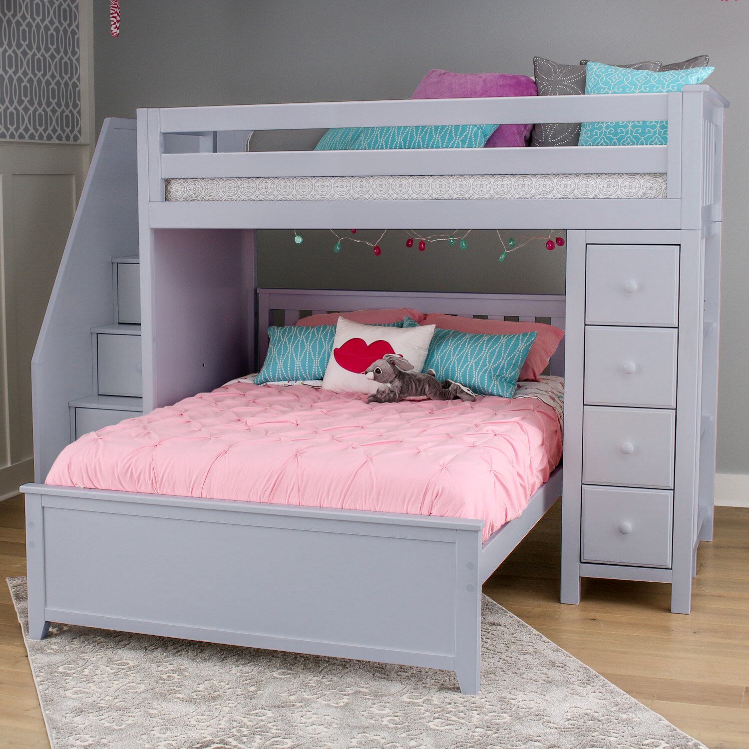 Harriet Bee Ayres L Shaped Bunk Bed With Drawers Reviews Wayfair