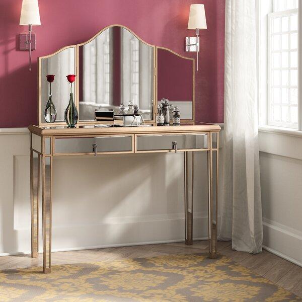Miguel Table Vanity with Mirror by Rosdorf Park