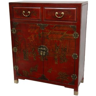 Lacquer 2 Drawer Accent Cabinet By Oriental Furniture