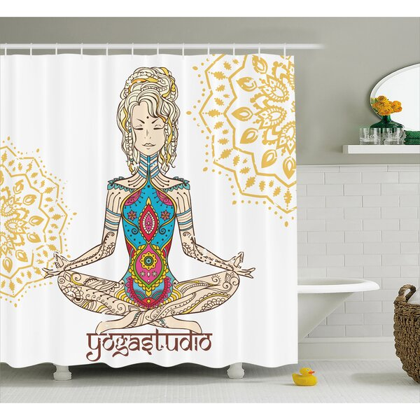 Hanson Chakra Girl Shower Curtain by Bungalow Rose