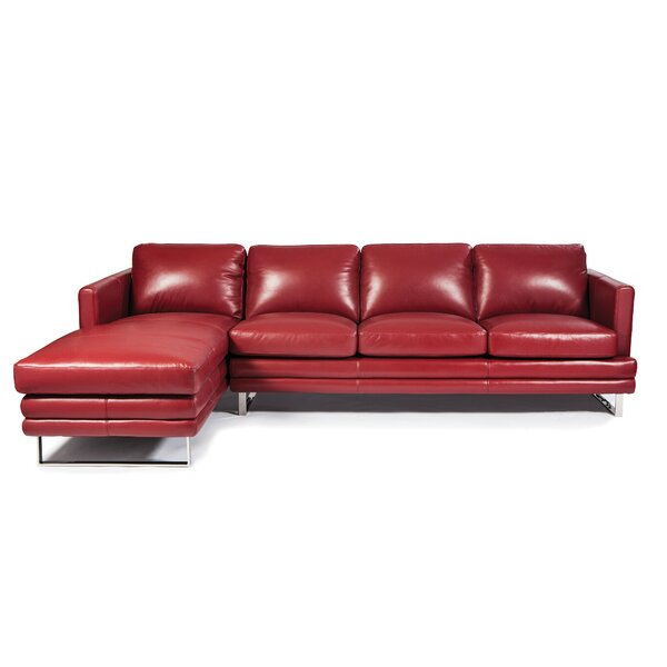 Melbourne Leather Sectional by Lazzaro Leather