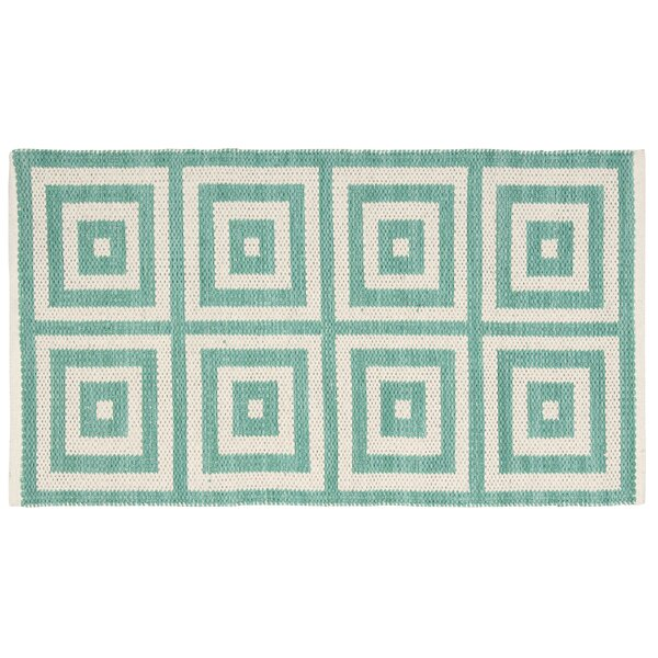 Paltrow Emerald/Beige Area Rug by Mercer41