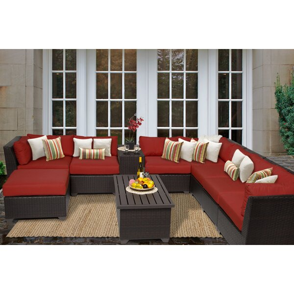 Medley 10 Piece Sectional Seating Group with Cushions by Rosecliff Heights