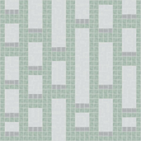 Urban Essentials Genome 3/4 x 3/4 Glass Glossy Mosaic in Placid Turquoise by Mosaic Loft