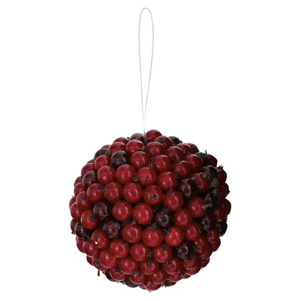 Berry Ball Ornament (Set of 6) by Nearly Natural