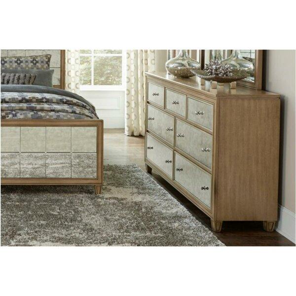 Huddleston 7 Drawer Double Dresser by Rosdorf Park