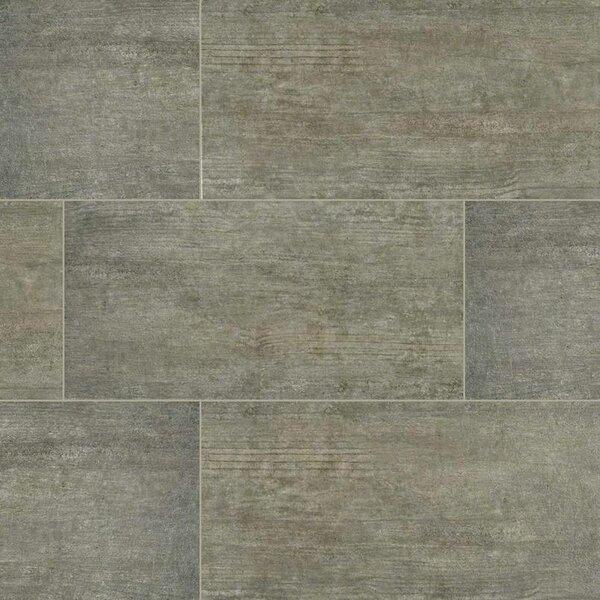 Metropolis 12 x 24 Porcelain Wood Look/Field Tile in Gray by MSI