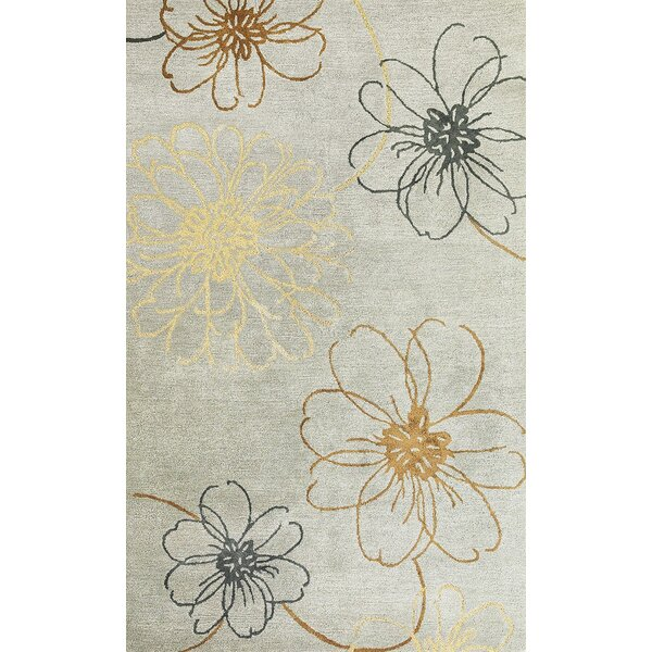 Odile Slate Blue Silhouette Rug by Red Barrel Studio