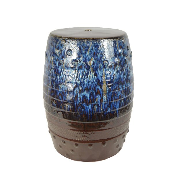 Poar Ceramic Garden Stool by World Menagerie