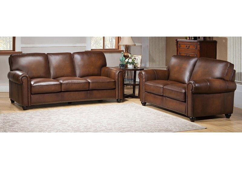 Amax Aspen 2 Piece Leather Living Room Set Wayfair
