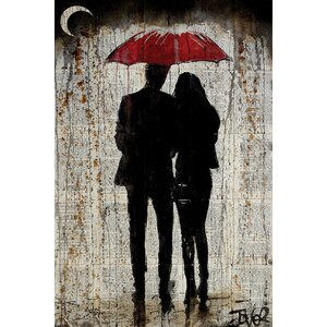 'Some Rainy Day' Graphic Art on Wrapped Canvas by East Urban Home