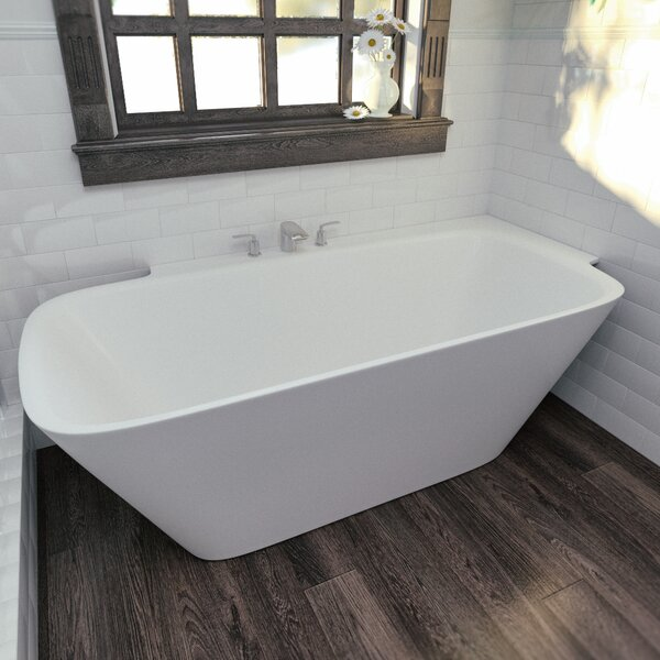 Arabella 72 x 33.85 Soaking Bathtub by Aquatica