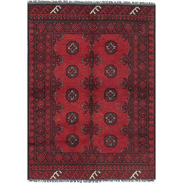One-of-a-Kind Ballaghmore Hand-Knotted Wool Red Area Rug by Bloomsbury Market
