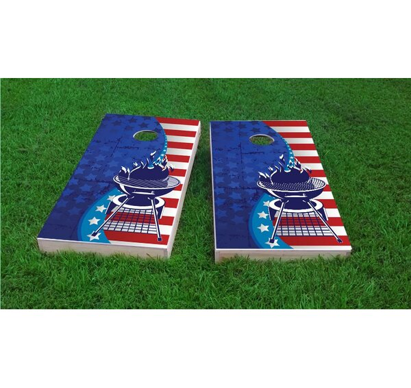 BBQ Light Weight Cornhole Game Set by Custom Cornhole Boards