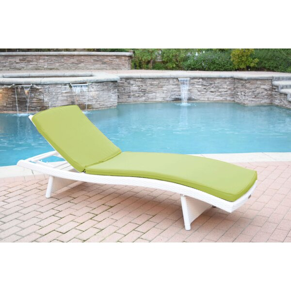 Valery Reclining Chaise Lounge with Cushion by Highland Dunes