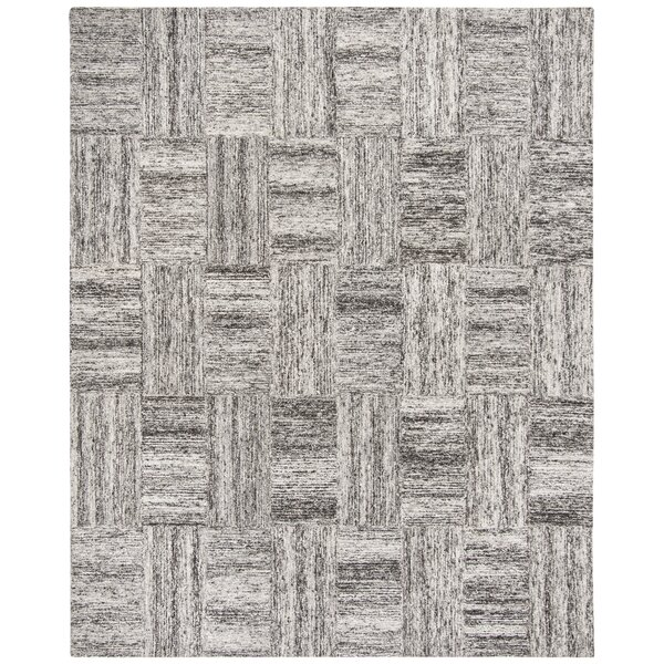 Brendan Hand-Tufted Ivory/Charcoal Area Rug by Williston Forge