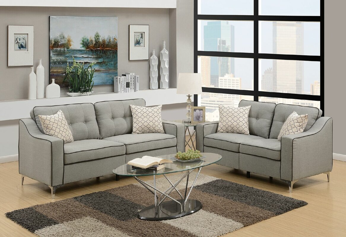 Ebern Designs Fleek 2 Piece Living Room Set Reviews