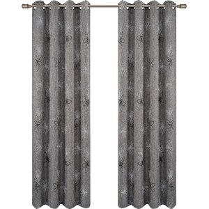 Crawford Nature/Floral Room Darkening Grommet Single Curtain Panel (Set of 2)
