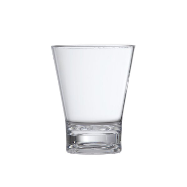 Double Old Fashined 15 oz. Plastic Cocktail Glass (Set of 6) by D&V