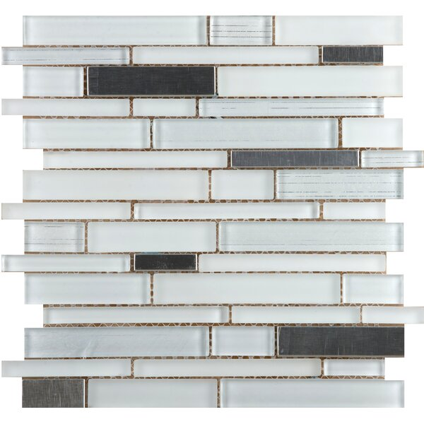 Flash 12 x 13 Glass Mosaic Tile in Ablaze by Emser Tile