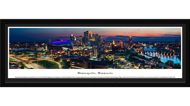 Minneapolis MN City Skyline Picture Framed Panorama 4