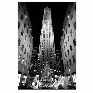 'Rockefeller Night' by Yale Gurney Framed Photographic Print on Wrapped Canvas by Trademark Fine Art
