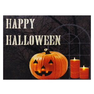 Happy Halloween Lit' Graphic Art on Canvas by Design House