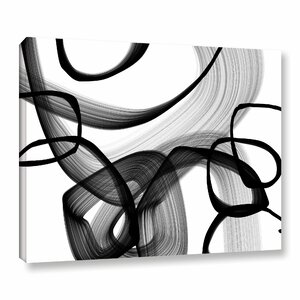 'Abstract Poetry in Black and White 91' Framed Graphic Art by Orren Ellis