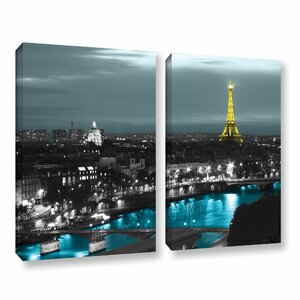 Paris by Revolver Ocelot 2 Piece Photographic Print on Gallery-Wrapped Canvas Set by ArtWall