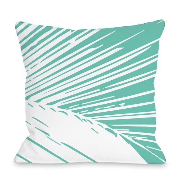 Alaiya Palm Leaves Throw Pillow by One Bella Casa