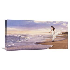 'Ocean Waves' by Pierre Benson Painting Print on Wrapped Canvas by Global Gallery