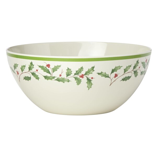 Holiday Melamine Serving Bowl by Lenox