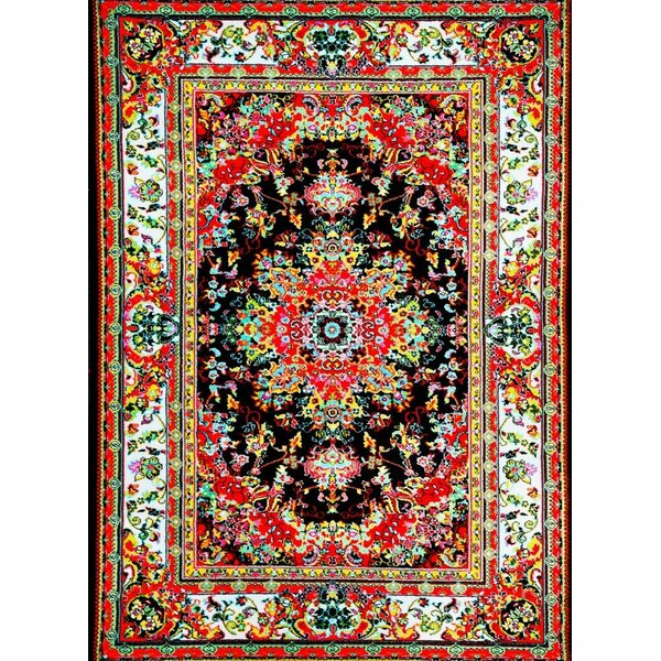 World Menagerie Dunlap Black/Red Indoor/Outdoor Area Rug & Reviews ...