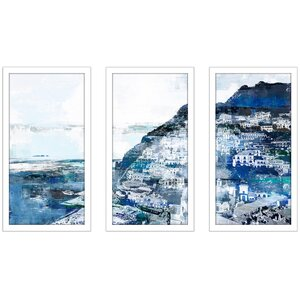 'Positiano, Amalfi Coast I' Framed Graphic Art Print Multi-Piece Image on Glass by East Urban Home