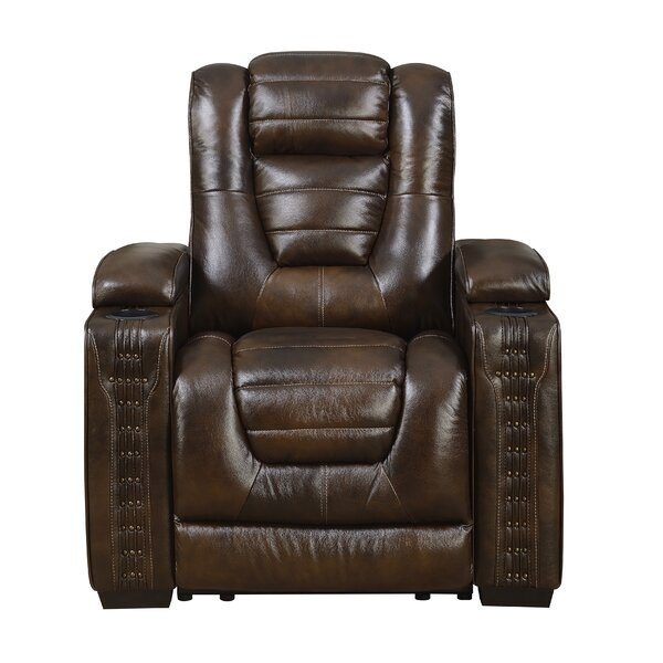 Barnhart Leather Power Recliner [Red Barrel Studio]