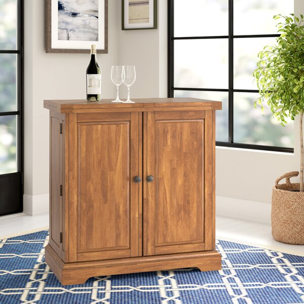 Rheingold Bar Cabinet with Wine Storage by Three Posts Three Posts