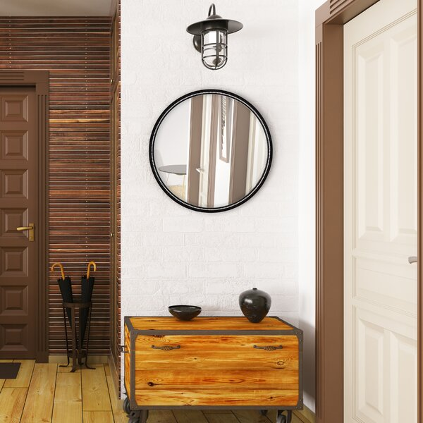 Round Simple Framed Wall Mirror by Majestic Mirror