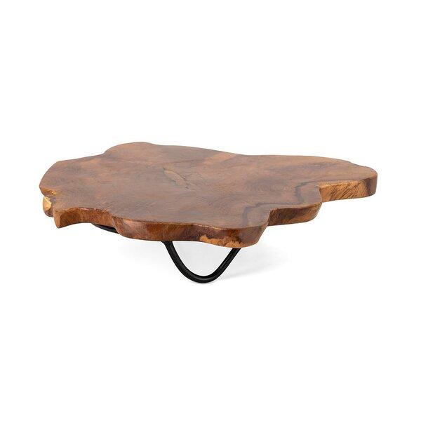 Boston Teak Wood Ottomon/Coffee Table Tray by Union Rustic