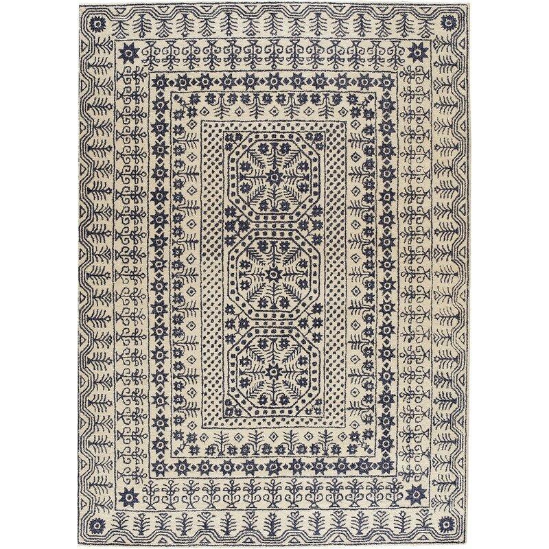 Alcott Hill Yadira Tufted Wool Area Rug Reviews Wayfair