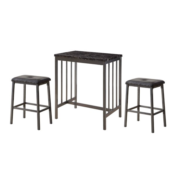 Mizpah 3 Piece Counter Height Dining Set by Winston Porter